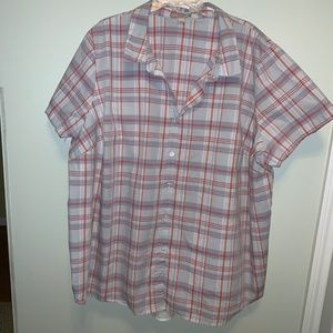 Woman within Plaid button down shirt 4x (34/36)